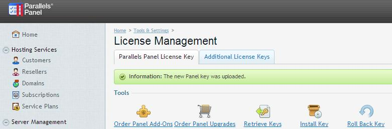 How to enjoy your Plesk license - GIGAS DOCS